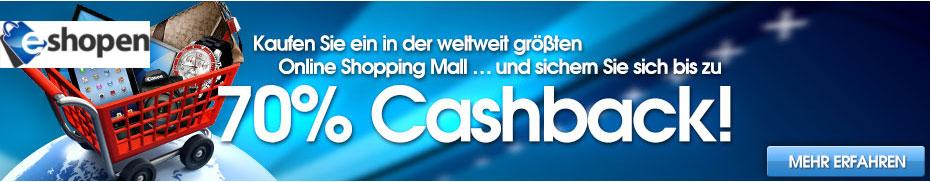 e-shopen.ch - Geld zurück - Cashback